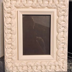 Other - Oversized Ornate Antique Cream Picture Frame